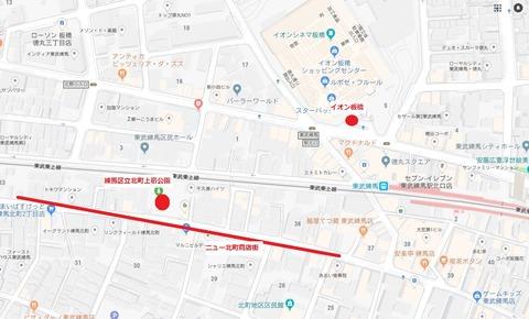 東武練馬地図